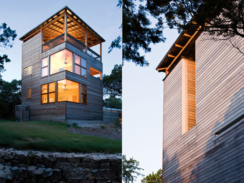 Tower House Austin Texas Fan The Fire - Tower-house-in-texas-by-andersson-wise-architects